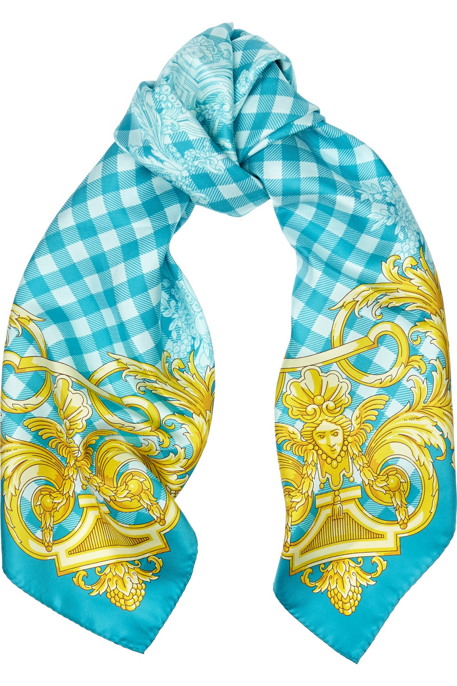 Versace Silk Printed Scarf  $128 marked down from $320