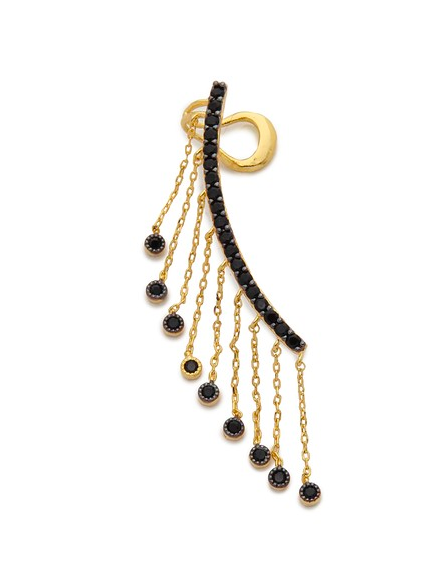 Noir Jewelry Tassel Ear Crawler, $120