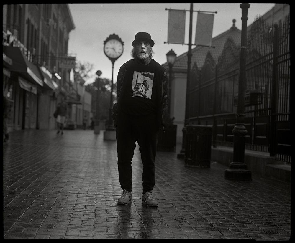 Man with Hat, Newkirk Plaza, Brooklyn