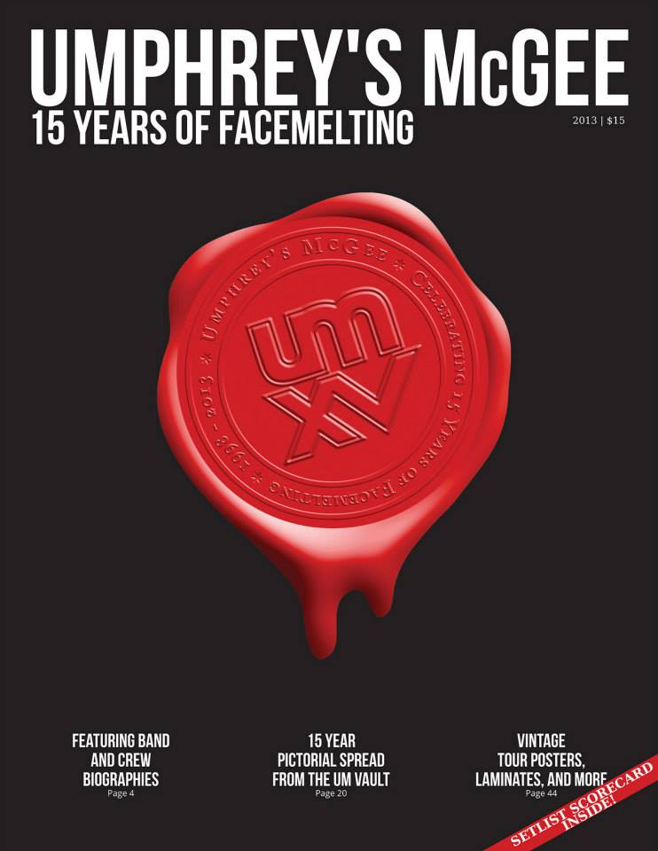 Umphrey's McGee 15 Years of Facemelting Tour Program