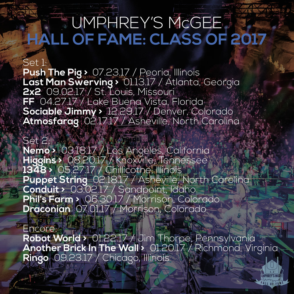 Umphrey's McGee Hall of Fame: Class of 2017 Social Square