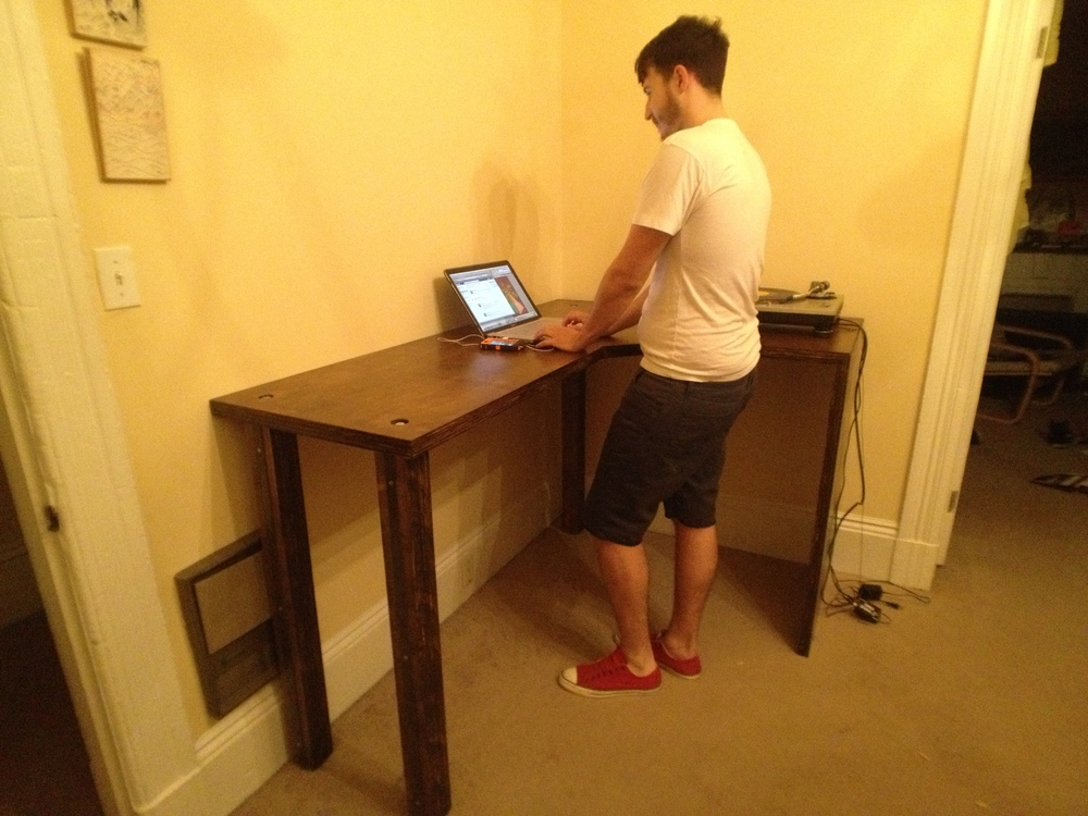 Stand-Up DJ Table and Desk