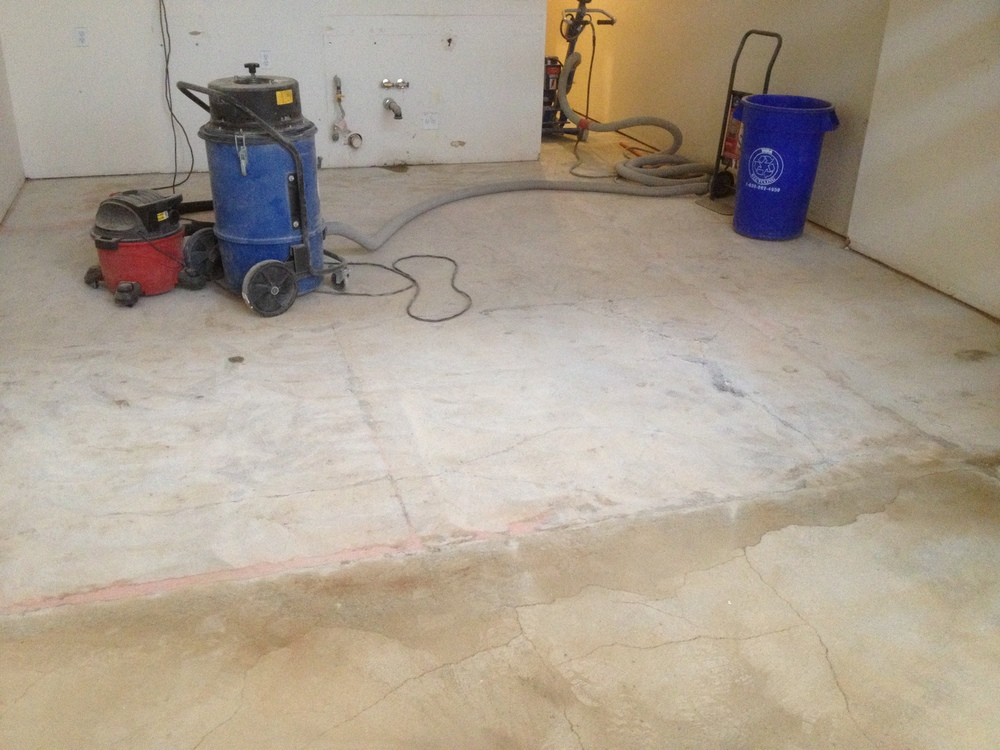 Concrete Floor- before