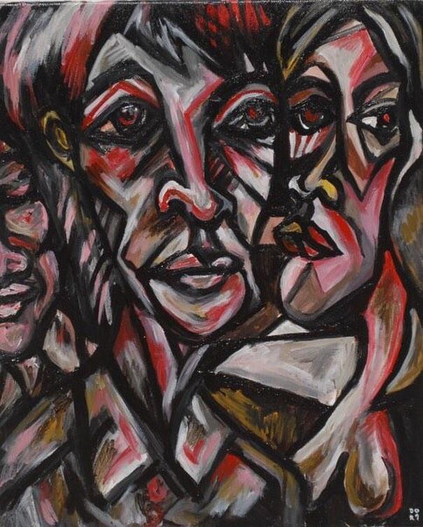Acrylic on canvas  #painting #contemporaryart #modernart #acreativedc #portrait #acrylicpainting #dailyart
