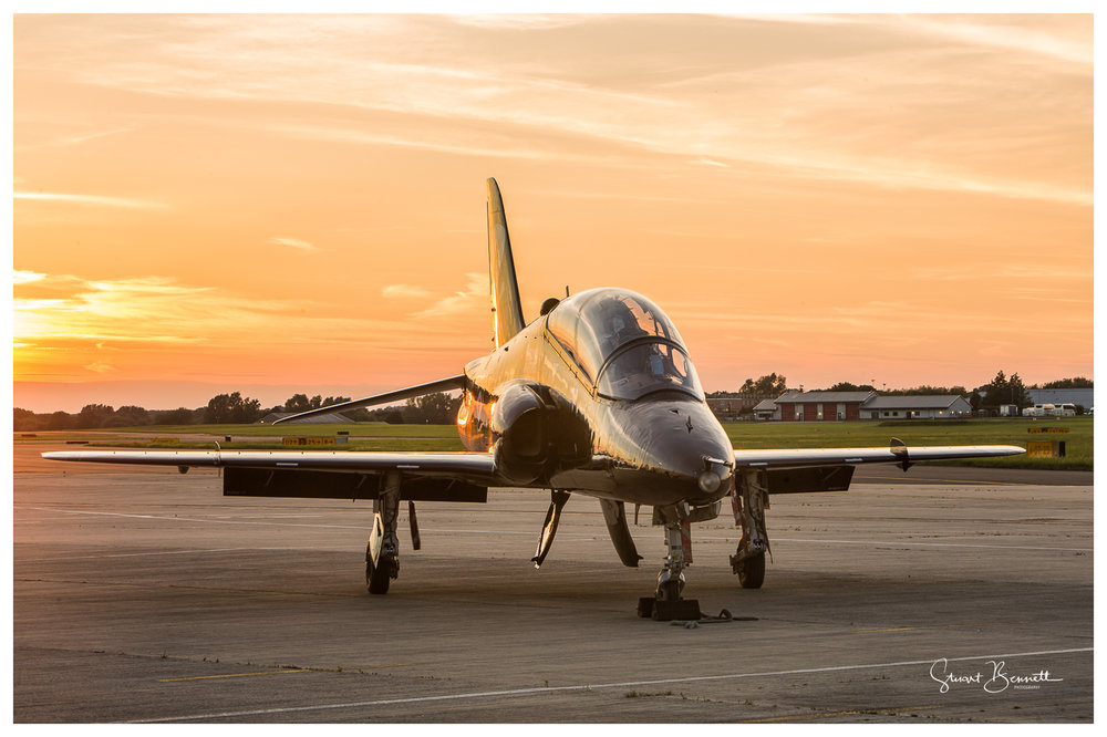 RAF Northolt Nightshoot - Hawk Sunset.JPG