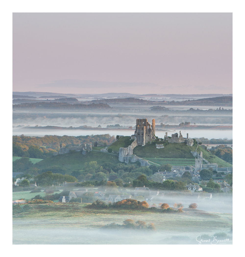 Corfe Castle Misty View-4.JPG