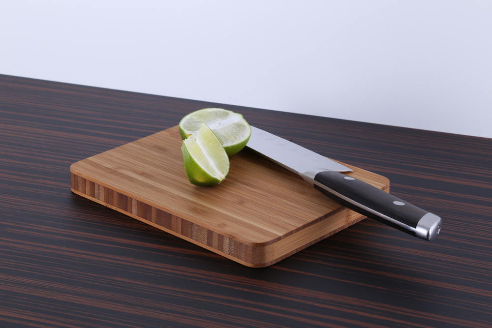 "Bamboo Bar Board  Our Bamboo Bar Board is perfect for the small jobs around the kitchen or behind the bar. Great for picnics and camping too! An attractive display holder is also available.  Approx. 8"" x 6"""