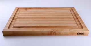 "If your store attracts aspiring professional and ardent home chefs this is the perfect board to have in stock. It's large size and durability are great selling points. And the extra wide juice groove is makes cleanup from juicy veggies and meats a breeze. This board is reversible.   Approx. measurements are 19"" x 13"" x 1.5"""