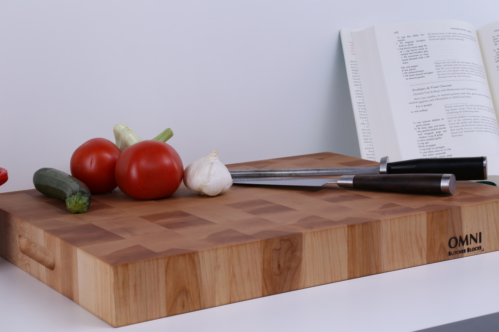 "This classic End Grain Butcher Block is made of Hard Sugar Maple. Approximate measurements are 19"" x 14""x 2"". $189.00 plus applicable taxes and shipping."
