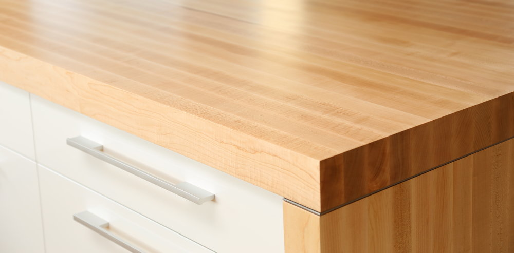 Hard sugar Maple butcher block countertop