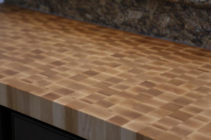 Hard Sugar Maple Countertop, End Grain