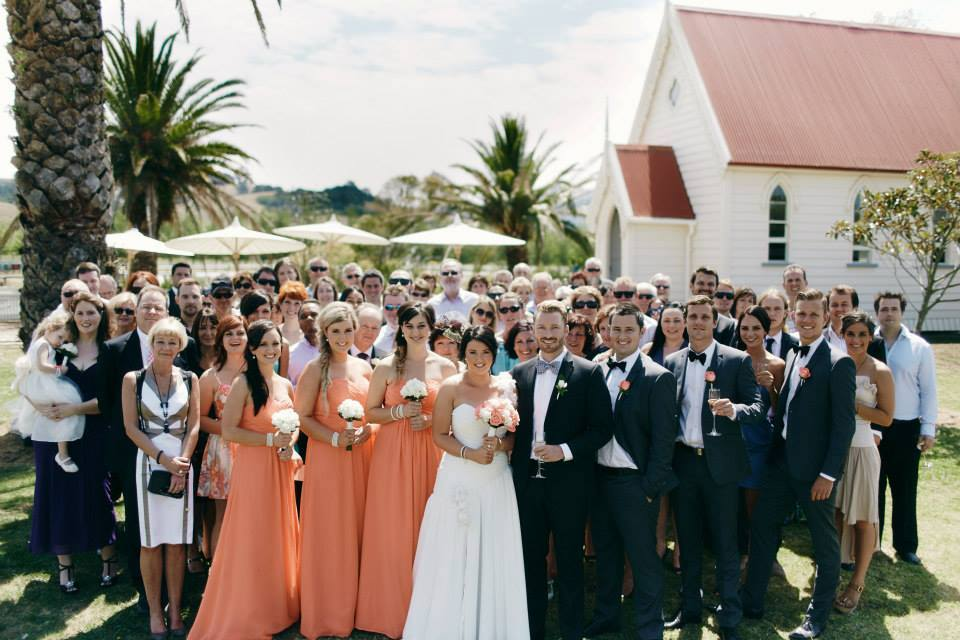 St. Andrew's Church. - On site at The Matakana Country Park, surrounded by manicured lawns and palm trees is a beautiful vintage church, available as an alternative option for your ceremony. Talk to us about hiring this and organising a celebrant.