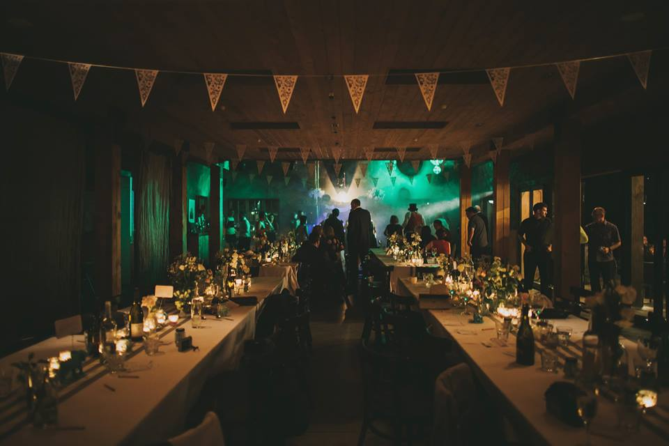 Entertainment. - Every wedding needs a dance floor. Time to forget the formalities and let loose! The venue transforms into a great party spot at night. Talk to us about live bands, DJ's or sound system hire. We have some great affordable recommendations.
