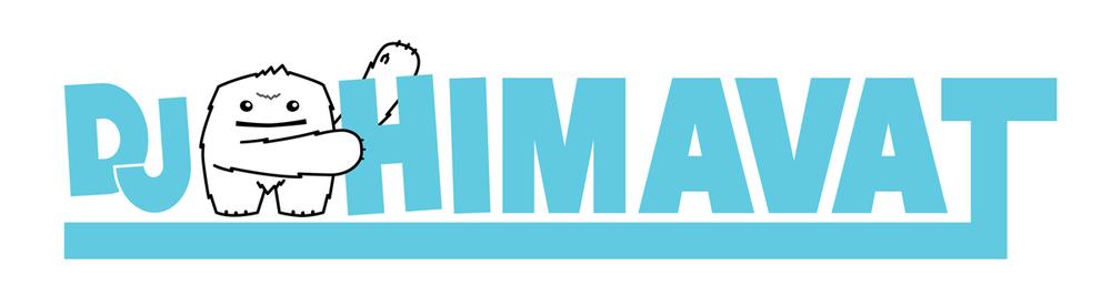 DJ HIMAVAT Logo - Light Blue