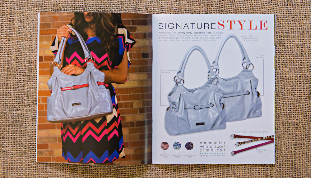 Chaumé 2013 Fall/Winter Collection Catalog // Sunny Gray Tote Inside Spread