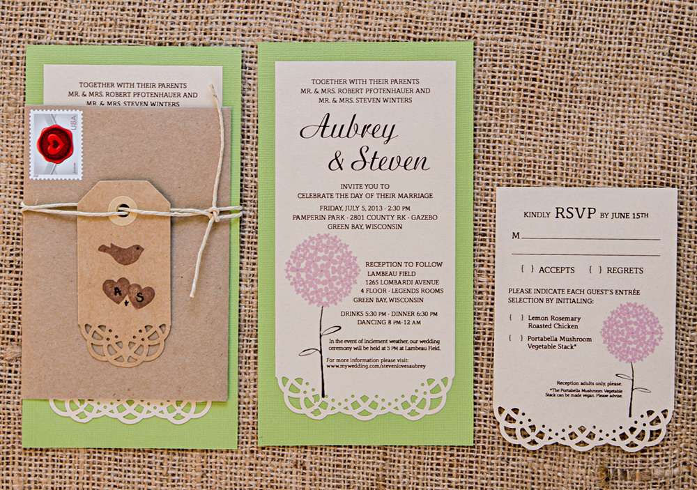 Winters' Wedding Invitation Set // Invitation Set with Envelope, Invitation & Reply Card