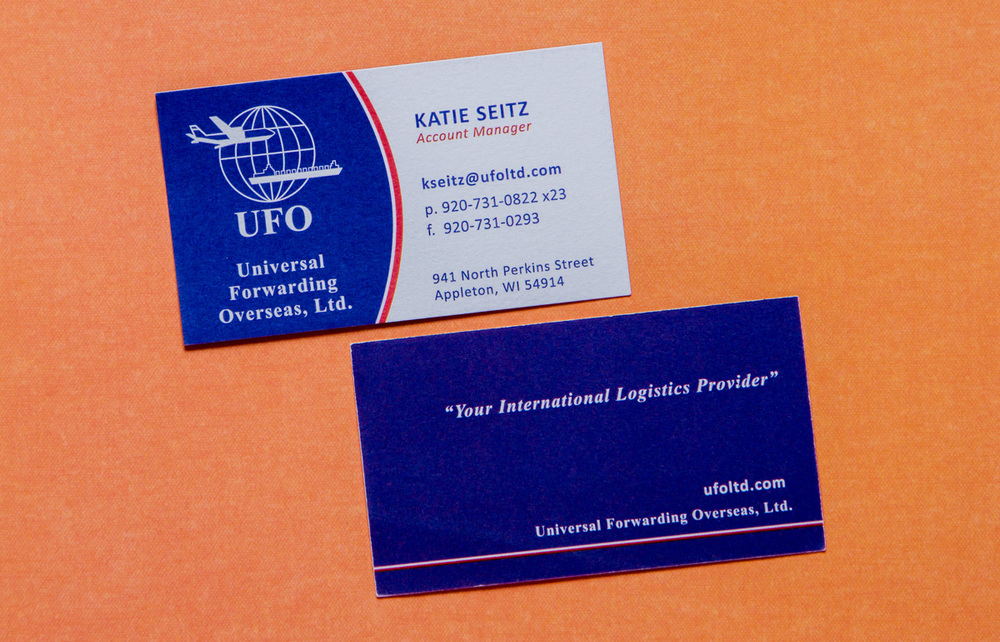 UFO Business Card for Katie Seitz