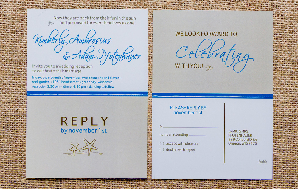 Pfotenhauer's Wedding Reception Invitation