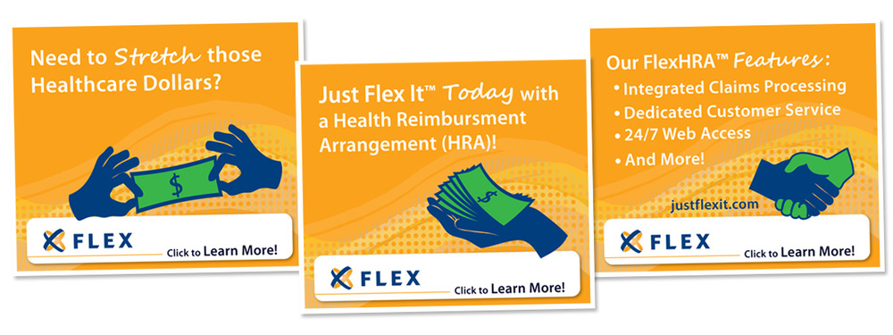 Three Part Animated Banner Ad // FlexHRA Promotion