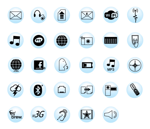 Cellcom's Cell Phone Icons