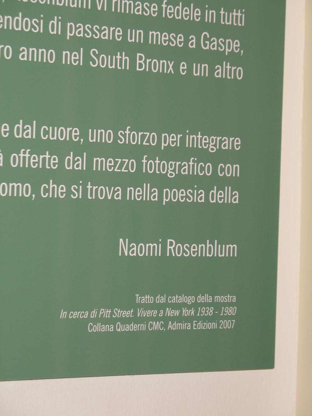 Title Wall by Naomi Rosenblum