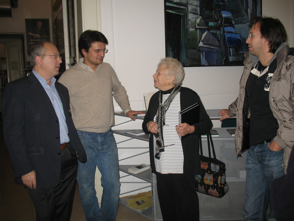 Naomi Rosenblum with Camillo Fornasieri and Photographer, Pierpaolo Mittica