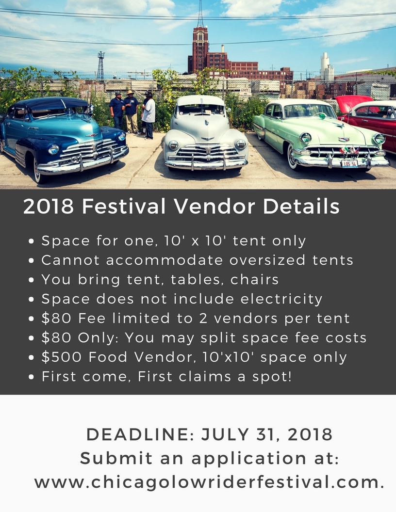 vendor application slow low chicago lowrider festival