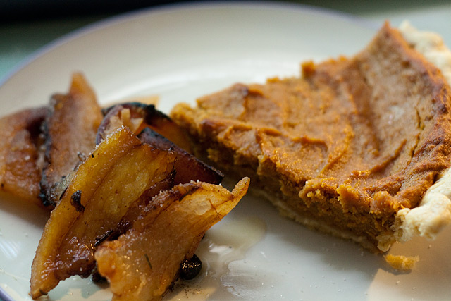 sweet potato pie and crisped lardo