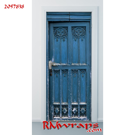 Delightful Blue Poland Door Wrap Sticker