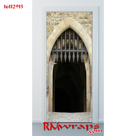 Door sticker 16112913 - Castle gate