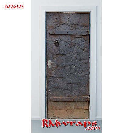 Door wrap old Metal door 2026323