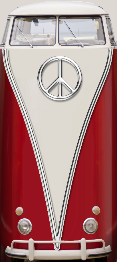 Vw Bus red Peace Door wrap .png