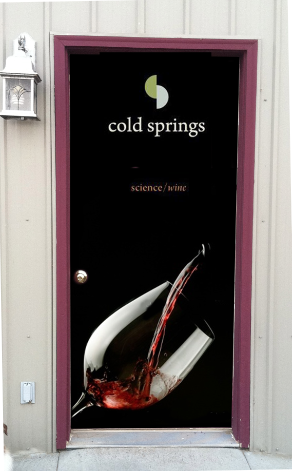 Office door wrap Cold springs winery