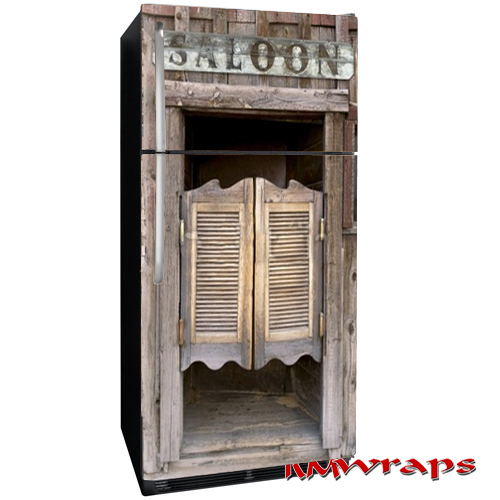 Saloon Door Refrigerator Wrap