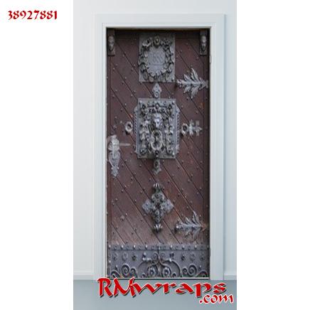 Me val front door in Prague door wrap Lovely - Model Of black front door