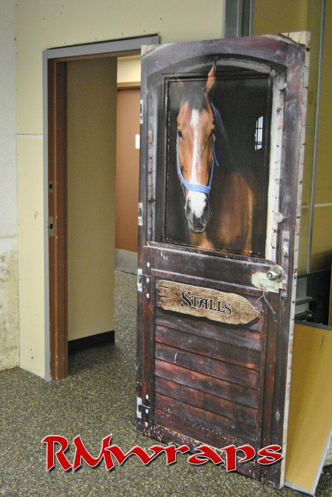 Horse Stall door wrap & Horse Stall Door wrap u2014 Rm Wraps