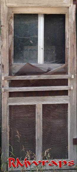 Old Screen wooden Door wrap sticker — Rm Wraps