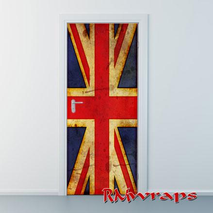 British Flag worn door wraps & Country flags door wraps u2014 Rm Wraps