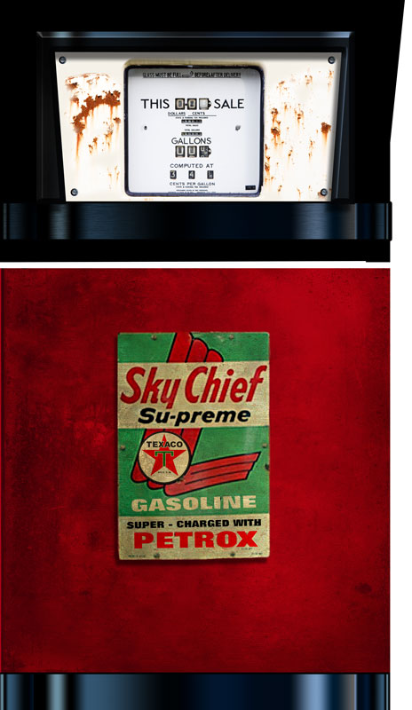 Vintage Gas Pump Refrigerator Wrap Rm Wraps