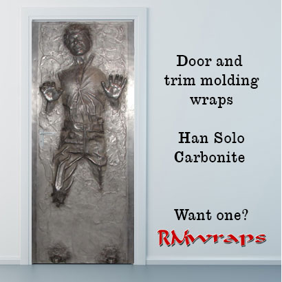 Han Solo In Carbonite Door Wrap