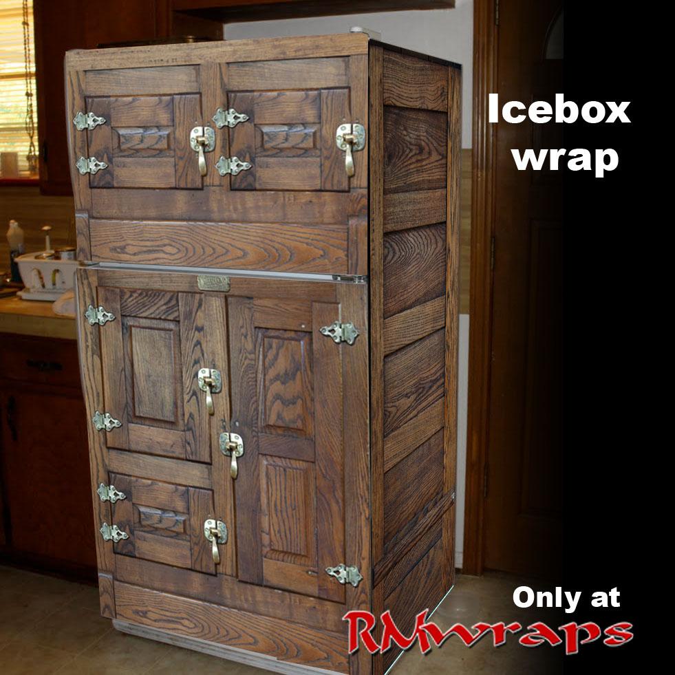 Icebox Vintage Refrigerator Wrap Rm Wraps