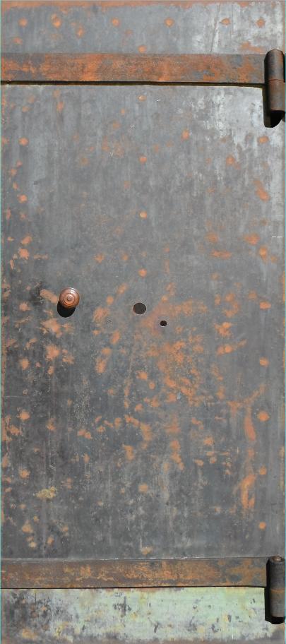 Rusty Metal Door old rust metal door wrap — rm wraps
