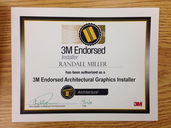 3M endorsed Architectural graphics installer