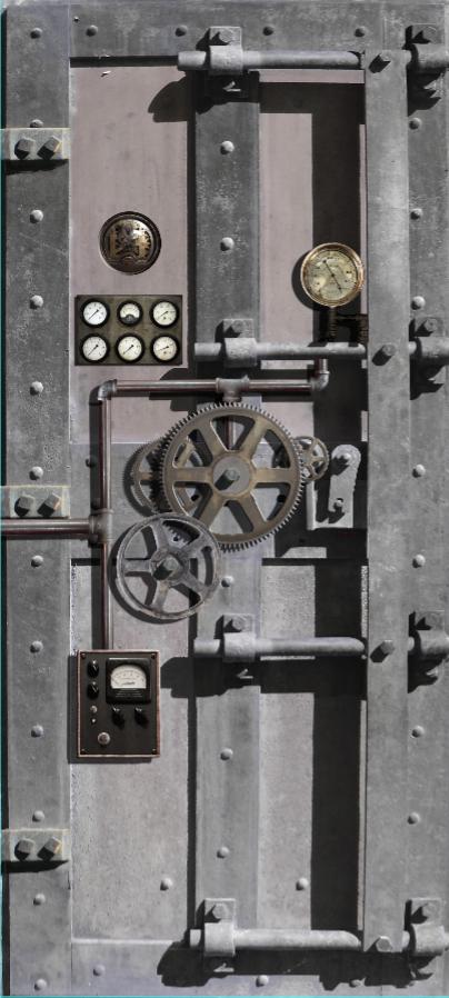 Ste&unk Door wrap & Steampunk Door wrap and trim molding wrap \u2014 Rm Wraps
