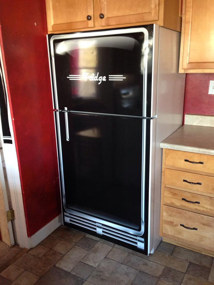 vintage black refrigerator design wrap vintage 1950 u0027s refrigerator design skin  u2014 rm wraps  rh   rmwraps com
