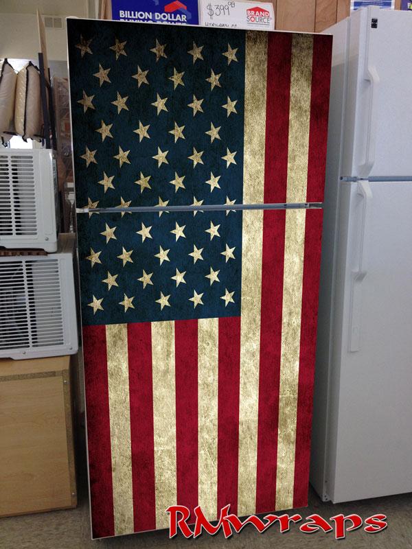 Usa Flag Refrigerator Wrap Rm Wraps