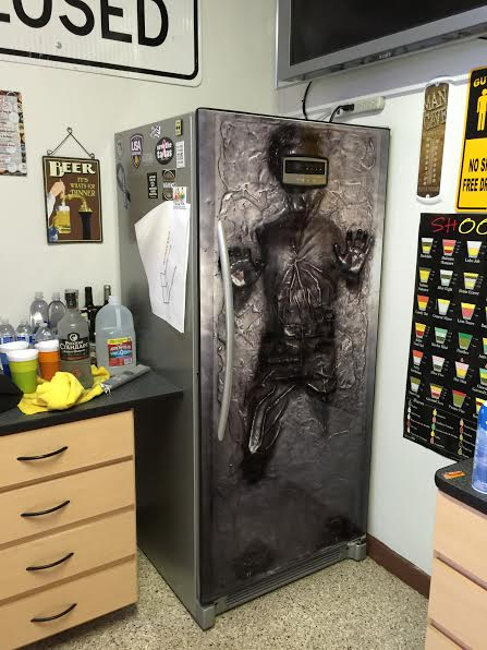 Lovely Han Solo In Carbonite Star Wars Refrigerator Wrap