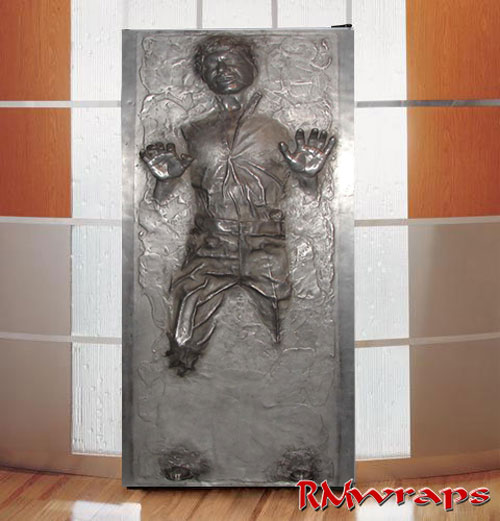Han Solo In Carbonite Star Wars Refrigerator Wrap Rm Wraps