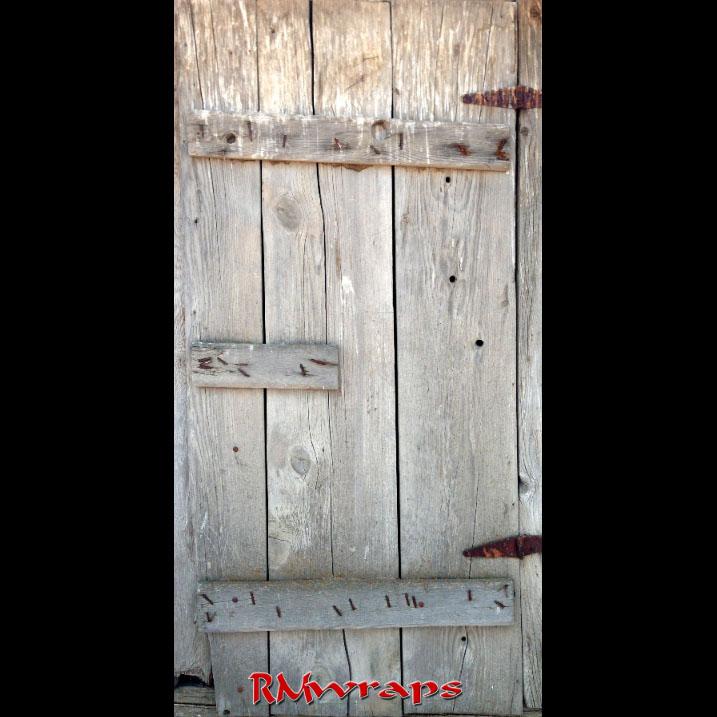 Old Wooden Door Wrap Sticker Rm Wraps
