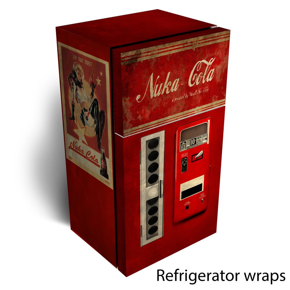 Nuke Cola refrigerator wrap
